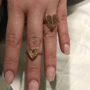 Jewelry - Gold plated heart rings